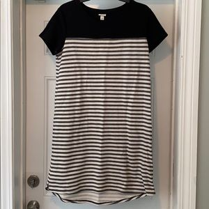 Merona Black & White Short Sleeve Dress